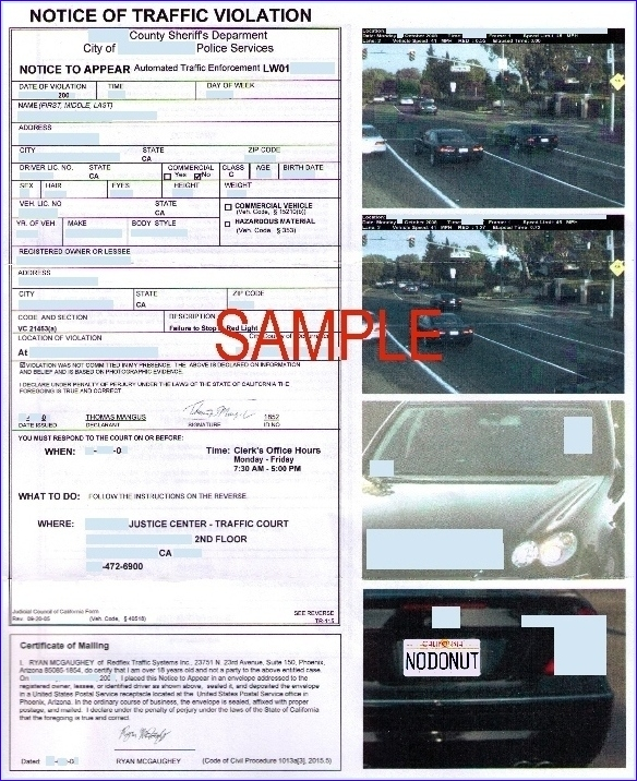 How to fight red light/speed camera tickets | BanCams com